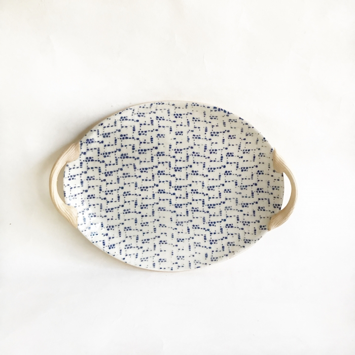 Small Oval with Handles Maze Cobalt