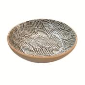 "terrafirma ceramics 8"" bowl chestnut braid"