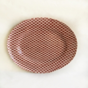 Medium Oval Platter Dot Poppy