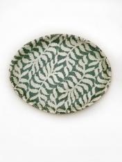 Small Oval Tray Fern Pine