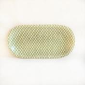 Sm Fish Platter Dot Citrus Overhead