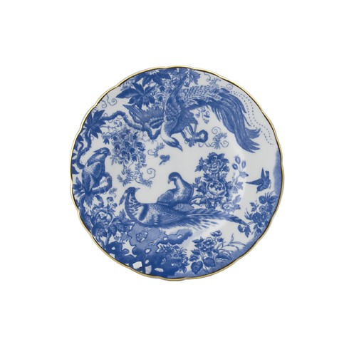 Blue Aves Bread Butter Plate Elizabeth Bruns Inc