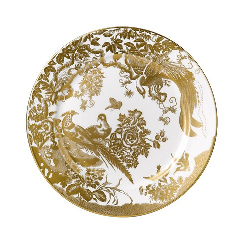 Gold Aves Salad Plate