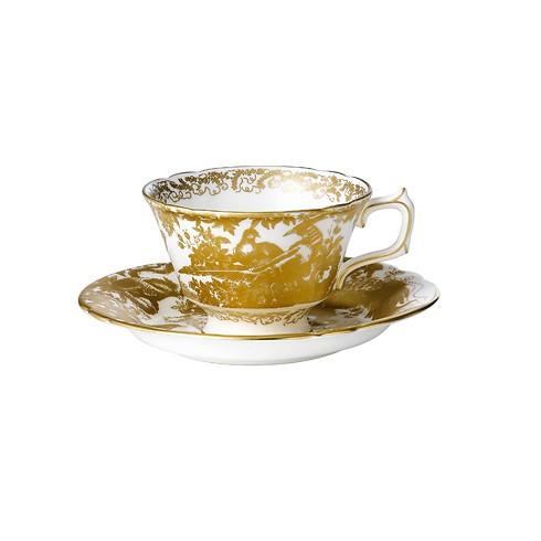 Gold Aves Tea Saucer