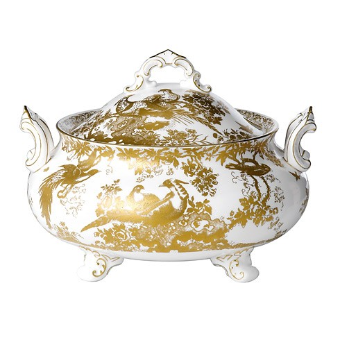 Gold Aves Soup Tureen & Cover