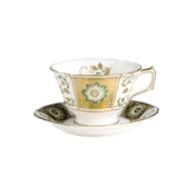 Derby Panel Green Tea Saucer