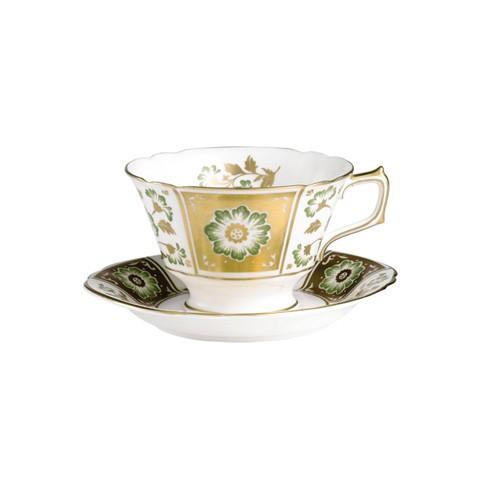 Derby Panel Green Tea Saucer
