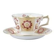 Derby Panel Red Tea Saucer