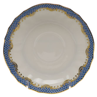 FishScale Blue Canton Saucer