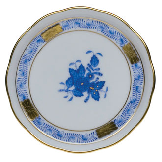 """Chinese Bouquet Blue Coaster 4""""D"""