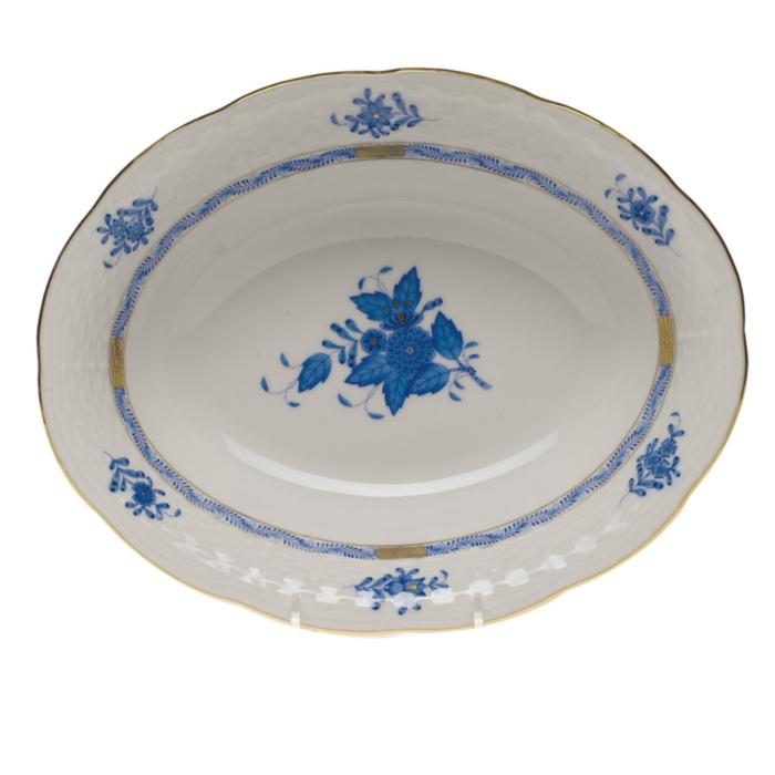 Chinese Bouquet Blue Oval Veg Dish
