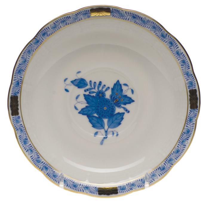 """Chinese Bouquet Blue Tea Saucer  6""""D"""