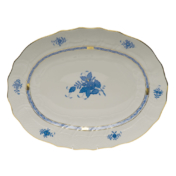 Chinese Bouquet Blue Oval Platter