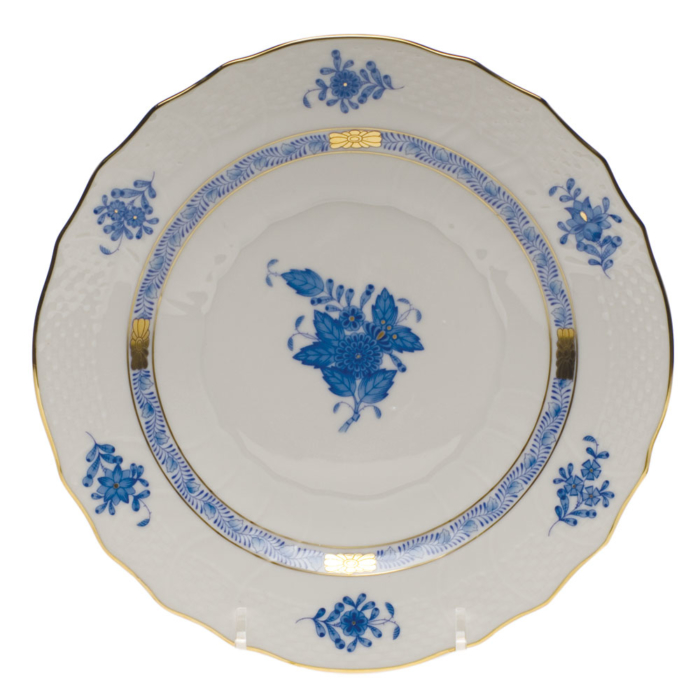 """Chinese Bouquet Blue Salad Plate  7.5""""D"""