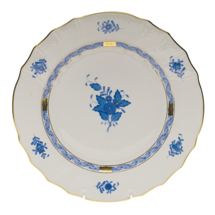 "Chinese Bouquet Blue Dinner Plate  10.5""D"