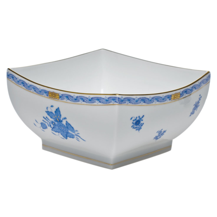 Large Square Bowl Chinese Bouquet Blue