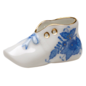 "Chinese Bouquet Blue Mini Baby Shoe Ornament 2""L X 1"" H"