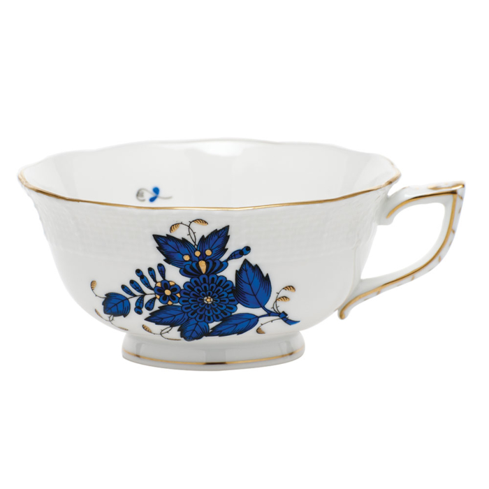 Chinese Bouquet Black Sapphire Tea Cup 8Oz