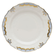 """Princess Victoria Light Blue Bread & Butter Plate - Lt Blue 6""""D"""