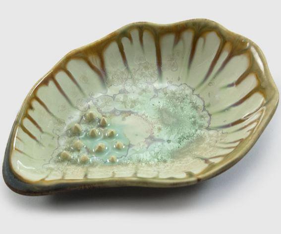 AE Ceramics Garlic Grinding Bowl Mint Tortoise
