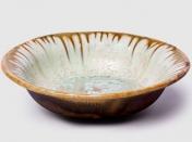 AE Ceramics Round Fruit Pasta Bowl Mint Tortoise