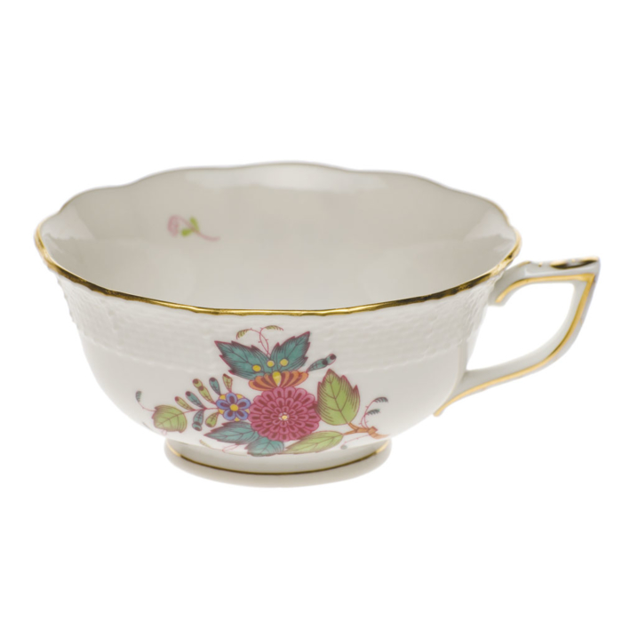 Chinese Bouquet Multi Tea Cup  (8 Oz)