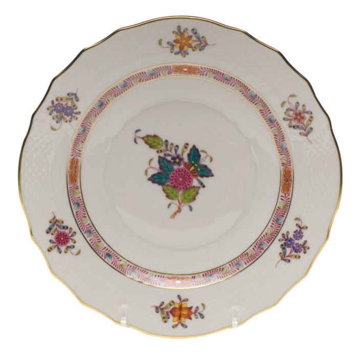 """Chinese Bouquet Multi Salad Plate  7.5""""D"""