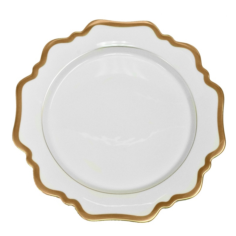 antique white with gold anna weatherley  sc 1 st  Elizabeth Bruns & Antique White with Gold Dinner Plate - Elizabeth Bruns Inc.
