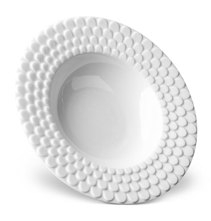 Aegean White Soup Plate