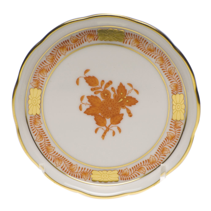 "Chinese Bouquet Rust Coaster 4""D"