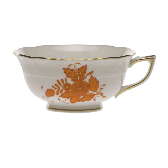 Chinese Bouquet Rust Tea Cup  (8 Oz)