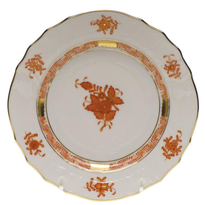 "Chinese Bouquet Rust Bread & Butter Plate  6""D"