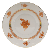 "Chinese Bouquet Rust Salad Plate  7.5""D"