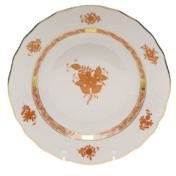 """Chinese Bouquet Rust Dessert Plate  8.25""""D"""