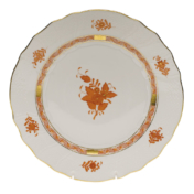 "Chinese Bouquet Rust Dinner Plate  10.5""D"
