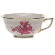 Chinese Bouquet Raspberry Tea Cup  (8 Oz)