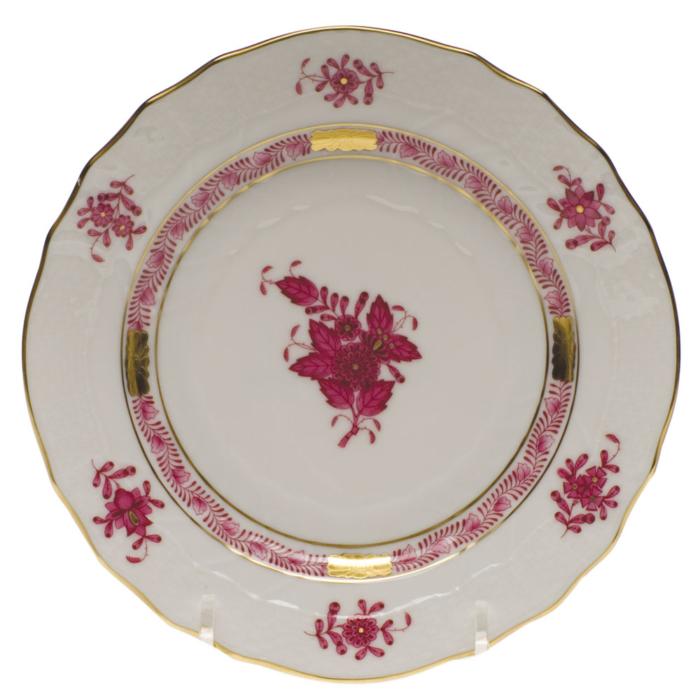 "Chinese Bouquet Raspberry Bread & Butter Plate  6""D"