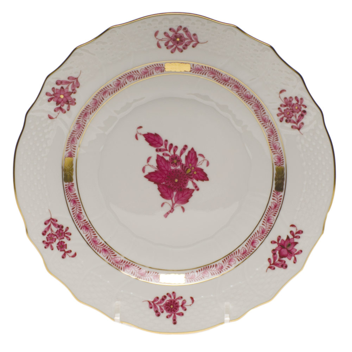 """Chinese Bouquet Raspberry Salad Plate  7.5""""D"""