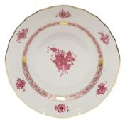 """Chinese Bouquet Raspberry Dessert Plate  8.25""""D"""