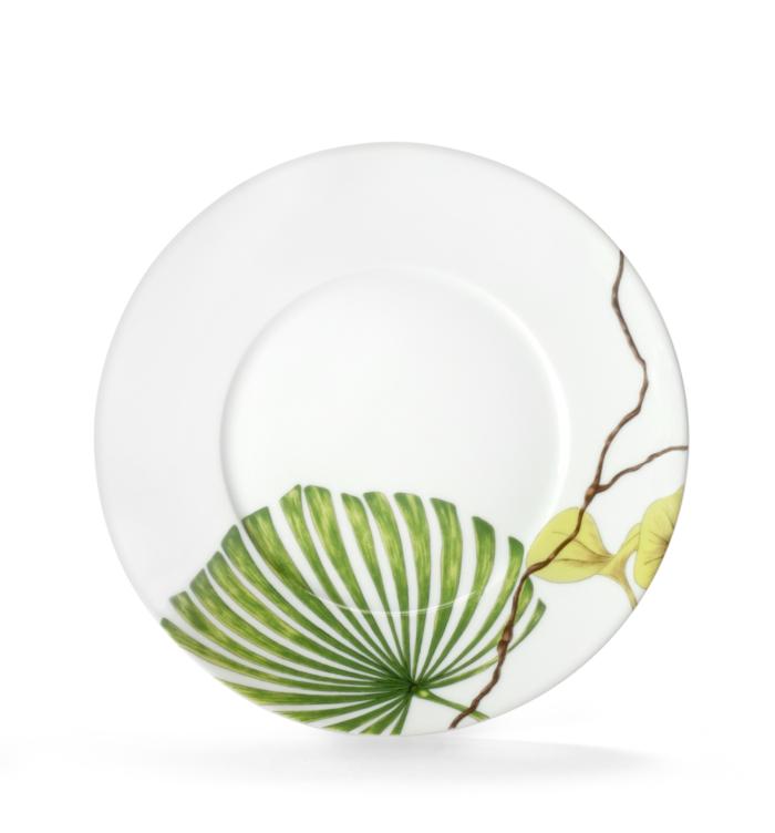 Ikebana (Envie Shape) Dessert Plate Palme