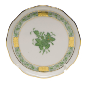 "Chinese Bouquet Green Coaster 4""D"