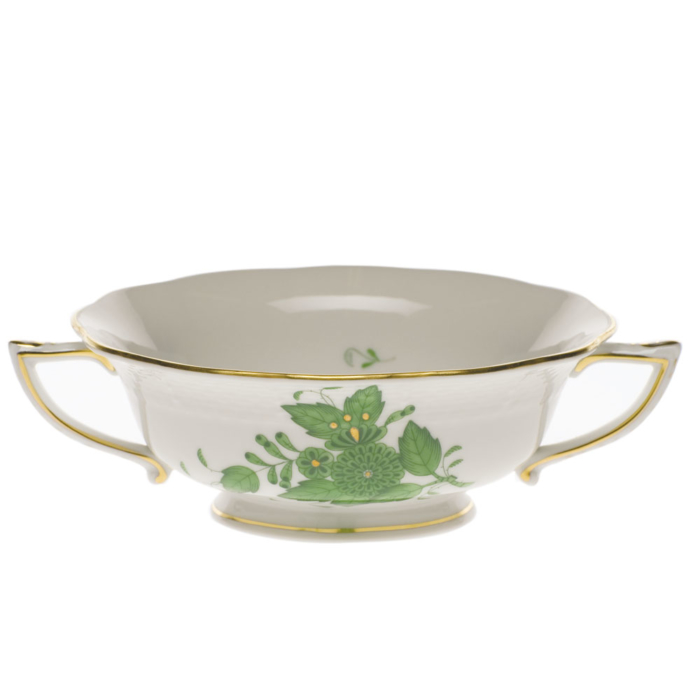 Chinese Bouquet Green Cream Soup Cup  (8 Oz)