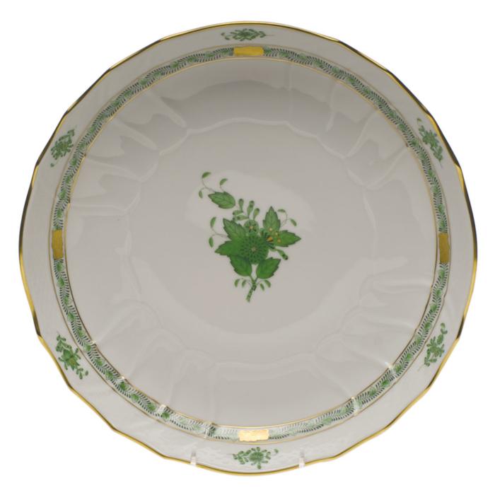 """Chinese Bouquet Green Open Veg Bowl  10.5""""D"""