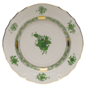 "Chinese Bouquet Green Bread & Butter Plate  6""D"