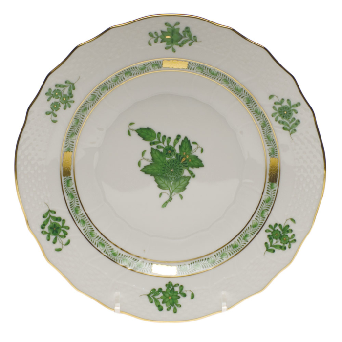 """Chinese Bouquet Green Salad Plate  7.5""""D"""