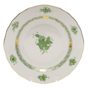 "Chinese Bouquet Green Dessert Plate  8.25""D"