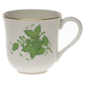 "Chinese Bouquet Green Mug  (10 Oz) 3.5""H"