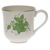 "Chinese Bouquet Green Mug  (10 Oz) 3.5""H"