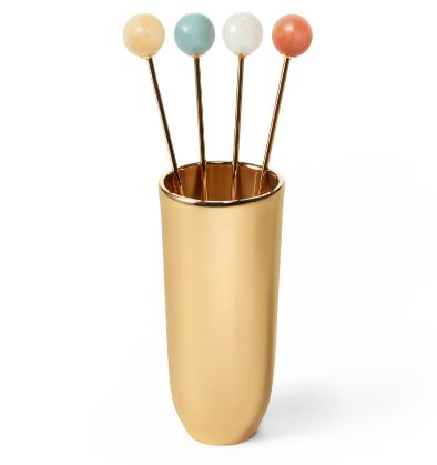 Aerin Anette Cocktail Picks With Holder