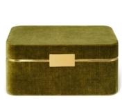 Aerin Beauvais Velvet Jewelry Box, Moss
